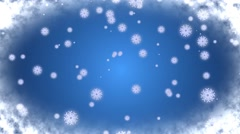Snowflakes Blue Background - stock footage