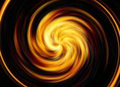 Twirl motion of bright explosion flash on black backgrounds Stock Illustration