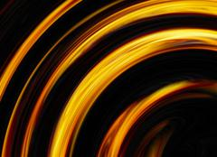 Curled bright explosion flash on black backgrounds Stock Illustration