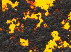 Stock Illustration of solidified lava texture of eruption volcano