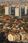 Turkey, Ankara, View of the city, Gecekondu dwelling - stock photo