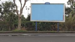 Blank billboard, ad space Stock Footage