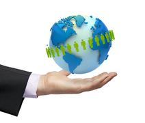 Worldwide business concept Stock Illustration