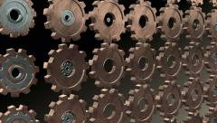 Morphing Looping Gears  - 4K Resolution Ultra HD Stock Footage