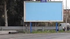 Stock Video Footage of empty billboard on road side