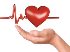 Hand holding red heart. healthcare and medicine concept Stock Illustration
