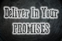 deliver on your promises concept - stock illustration
