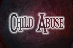 child abuse concept - stock illustration