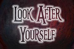 Look after yourself concept Stock Illustration