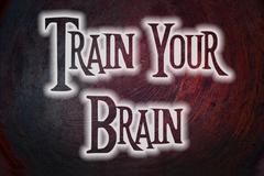 Train your brain concept Stock Illustration