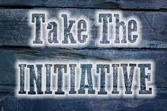 Take the initiative concept Stock Illustration