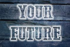your future concept - stock illustration