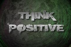 Think positive concept Stock Illustration