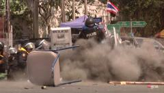 Grenade Attack on Police Bangkok, Thailand Stock Footage