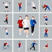 Stock Illustration of Sport icon set