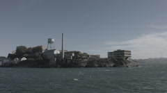 going around alcatraz - stock footage