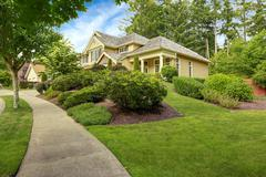 House exterior with beautiful landscape Stock Photos