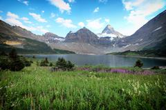mount assiniboine - stock photo