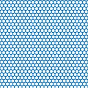 Honeycomb seamless pattern in blue color - stock illustration