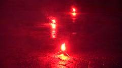 Flares, Emergency, Warning, Safety - stock footage