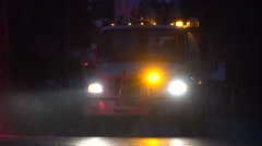 Utility Trucks, Repair Services Stock Footage