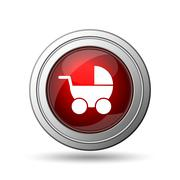 Stock Illustration of baby carriage icon