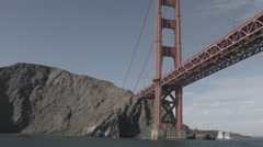 Golden gate bridge looking north from under it Stock Footage