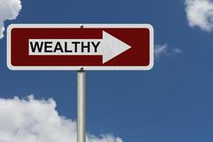 the way to being wealthy - stock photo