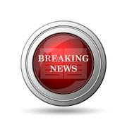 breaking news icon - stock illustration