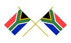 flags, south africa - stock illustration