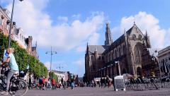 "Grote Kerk (""Large Church"") on the Grote Mark, Haarlem, Netherlands. Stock Footage"