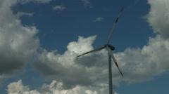 Wind energy generator close up Stock Footage