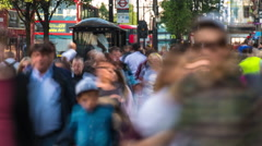 Timelapse of tourists, shoppers and business people in oxford street Stock Footage