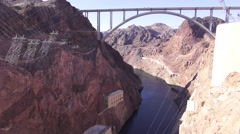 Hoover Dam - Bridge - stock footage