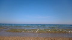 The sea is calm, the sky without clouds Stock Footage