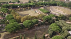The famous antique site of Pompeii, pompei near Naples in Italy, aerial view - stock footage