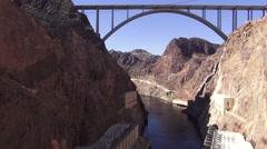 Hoover Dam - Bridge & Water - stock footage