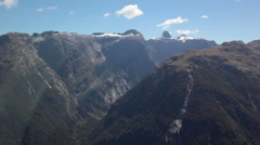 MILFORD SOUND AERIAL NEW ZEALAND - stock footage