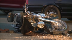 DUI MOTORCYCLE ACCIDENT CRASH ON MOTORBIKE HD HIGH DEFINITION 1920X1080 Stock Footage
