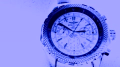 Men's wrist watch , Time Lapse - stock footage