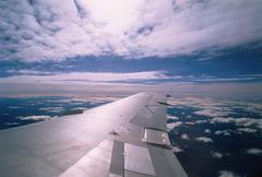 Aircraft Wing Arctic Canada Stock Photos