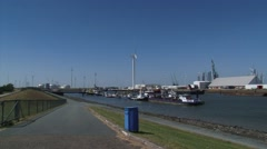 EEMSHAVEN, seaport basin Emmahaven with small sea vessels moored. Stock Footage