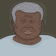 sleeping man close up - stock illustration