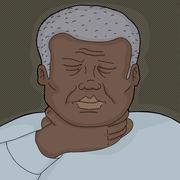 man holding throat - stock illustration