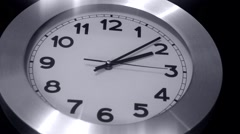 Black n White Wall Clock - Timelapse - stock footage
