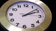 Black Wall, White  Clock - Timelapse Stock Footage