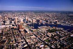Aerial View of Baltimore Harbor Maryland, USA Kuvituskuvat
