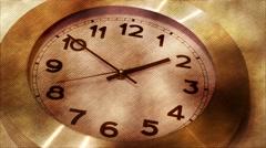 Wall Clock , Timelapse , Cross Hatch Effect Stock Footage