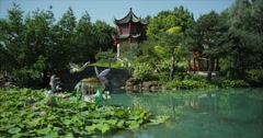 Red Epic - Chinese Garden zen moment Stock Footage