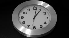 Black Wall, White Clock - Timelapse - stock footage